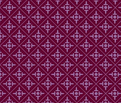colonial_cross plum jelly fabric by glimmericks on Spoonflower - custom fabric