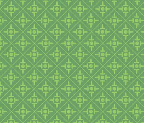 colonial_cross spring mint fabric by glimmericks on Spoonflower - custom fabric