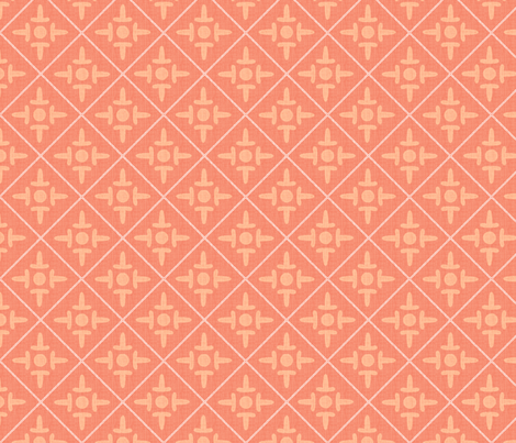 colonial_cross_peach fabric by glimmericks on Spoonflower - custom fabric