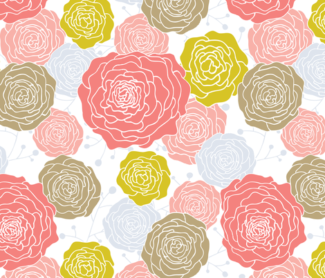 Morning Bouquet fabric by tradewind_creative on Spoonflower - custom fabric