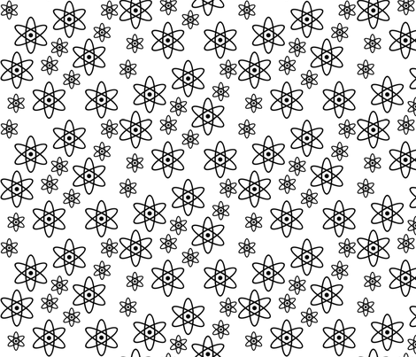 Atomic Orbits (White and Black) fabric by robyriker on Spoonflower - custom fabric