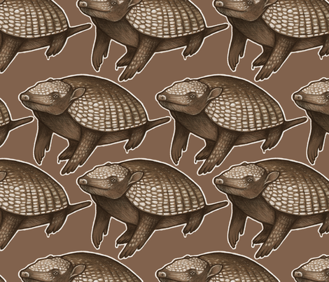 armadillo fabric by billiewren on Spoonflower - custom fabric