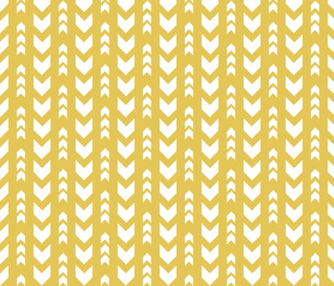 Yellow arrows fabric by grafiketgrafok on Spoonflower - custom fabric