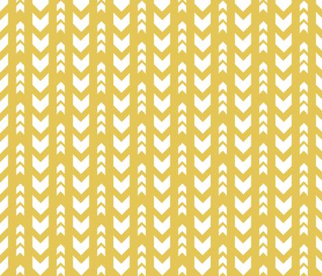 Yellow arrows fabric by grafiketgrafok on Spoonflower - custom fabric