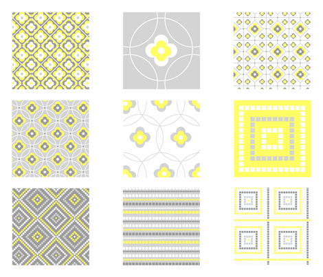 Wonderful tiles fabric by valmo on Spoonflower - custom fabric