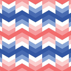 Zigzag arrows in Blue and Coral