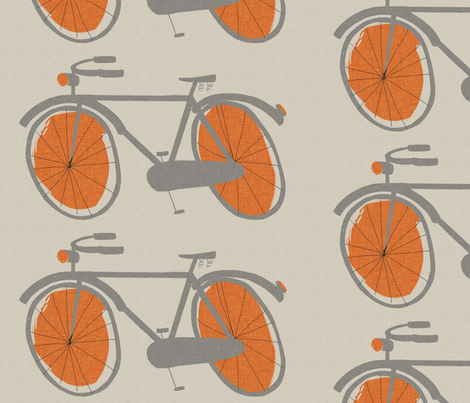 my bicycle fabric by mummysam on Spoonflower - custom fabric