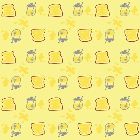 Honey Toast fabric by nefernika on Spoonflower - custom fabric