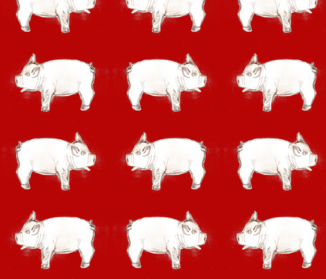 jul_pig fabric by vinkeli on Spoonflower - custom fabric