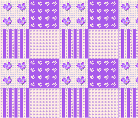 Crocus Coordinate fabric by koalalady on Spoonflower - custom fabric