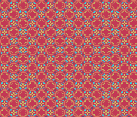 nest_eggmatissepeachred fabric by atomic_bloom on Spoonflower - custom fabric