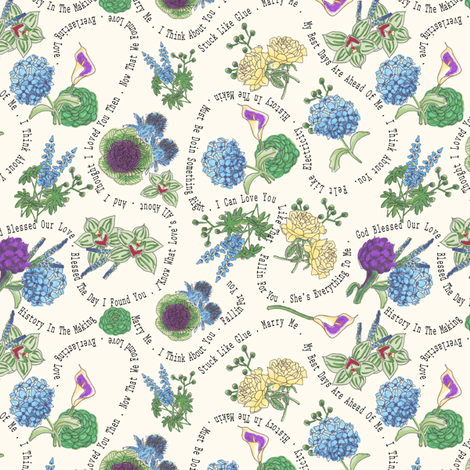 Marla Wedding Fabric fabric by clsanchez on Spoonflower - custom fabric