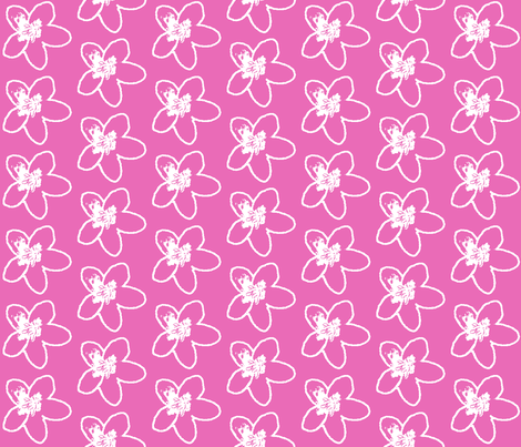 Plumeria Sketch fabric by koalalady on Spoonflower - custom fabric