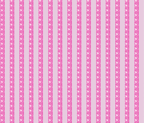 Plumeria Stripe fabric by koalalady on Spoonflower - custom fabric