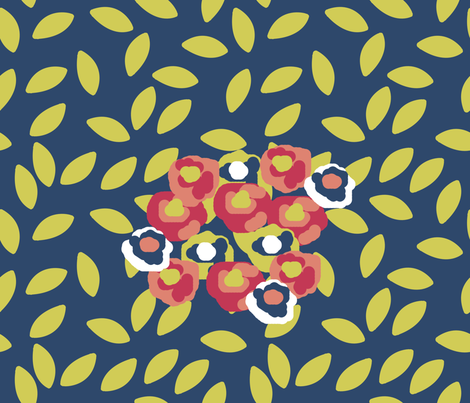 Floral Matisse Inspired fabric by nezumiworld on Spoonflower - custom fabric