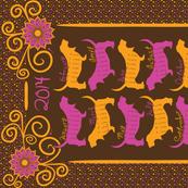 Samba Bassets 2014 Tea Towel Calendar