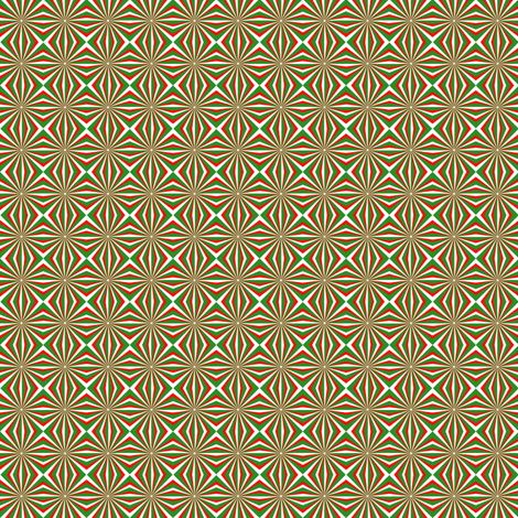Yo-Yo Christmas Tree fabric by pd_frasure on Spoonflower - custom fabric