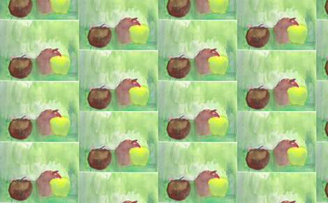 Apples fabric by artist55 on Spoonflower - custom fabric