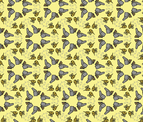 Smoke 'em Bees fabric by nefernika on Spoonflower - custom fabric