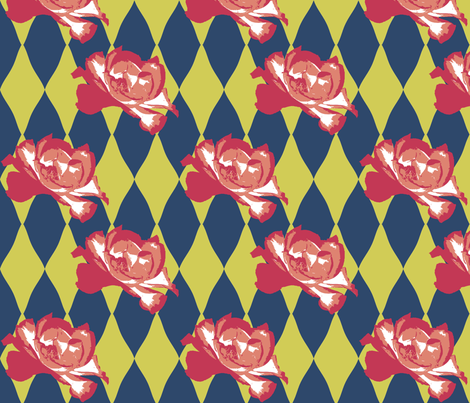 Nasher Roses fabric by fentonslee on Spoonflower - custom fabric