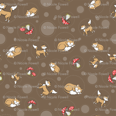 Sassy Fox - Fox and toadstool on chocolate
