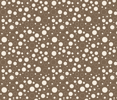 Sassy Fox - Chocolate and neutral toadstool spot fabric by eveningsongink on Spoonflower - custom fabric