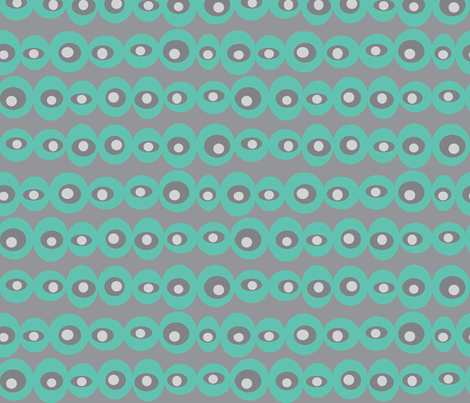 dotty turquoise fabric by jenr8 on Spoonflower - custom fabric