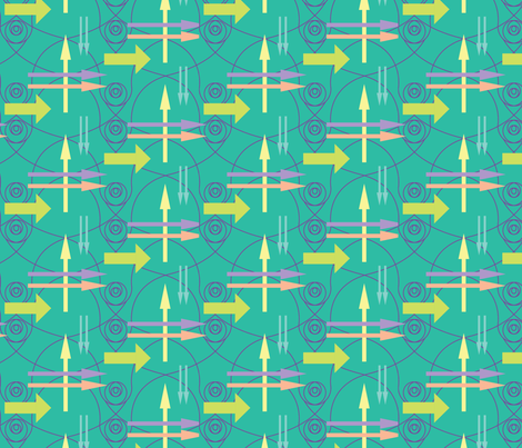 Arrows fabric by ivoryshades on Spoonflower - custom fabric