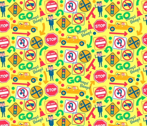 Traffic Arrows fabric by edmillerdesign on Spoonflower - custom fabric