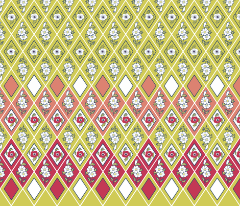 36x12_diamond_lines_A_ fabric by khowardquilts on Spoonflower - custom fabric