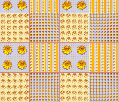 Sunflower2 Coordinate fabric by koalalady on Spoonflower - custom fabric