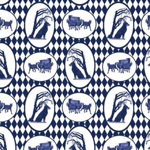 Beauceron Toile - blue