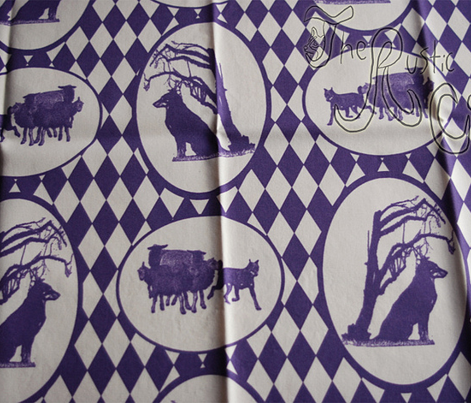 Beauceron Toile - purple