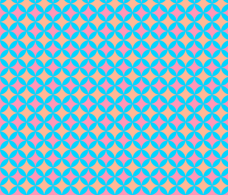 MysterySpot in PinkBlueOrange fabric by jennysquawk on Spoonflower - custom fabric