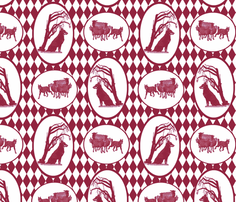Beauceron Toile - wine fabric by rusticcorgi on Spoonflower - custom fabric