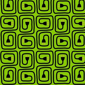 Greek Key Plugs in BrightGreen