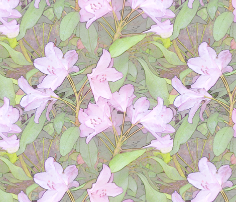 Pastel Rhododendron fabric by wren_leyland on Spoonflower - custom fabric