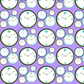 Clocks in Lavendar