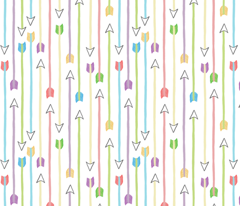 arrows2 fabric by cleverviolet on Spoonflower - custom fabric