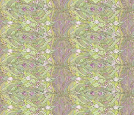 Pastel Crocus Floral fabric by wren_leyland on Spoonflower - custom fabric