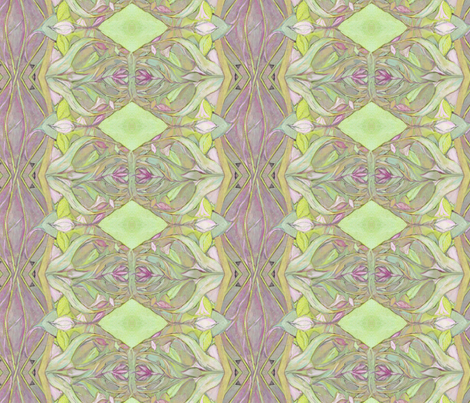 Pastel Rhododendron Floral fabric by wren_leyland on Spoonflower - custom fabric