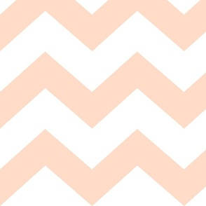 chevron peach / white