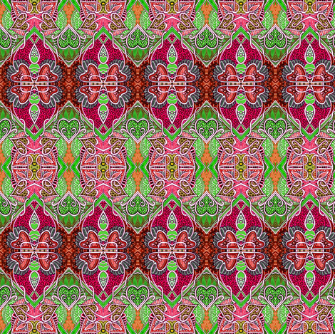 My Christmas Color Valentine fabric by edsel2084 on Spoonflower - custom fabric