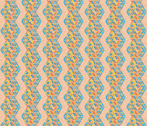 Beach strands on apricot, medium fabric by su_g on Spoonflower - custom fabric