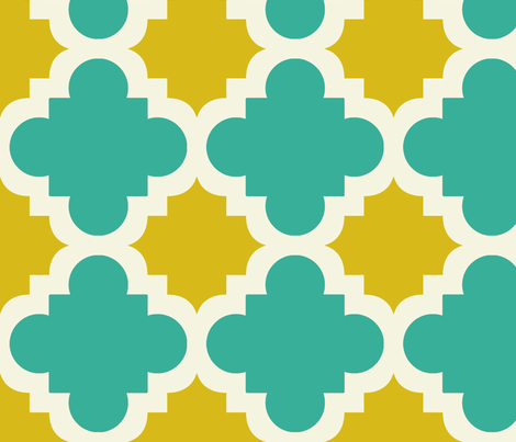 burst turquoise and mustard fabric by mytinystar on Spoonflower - custom fabric