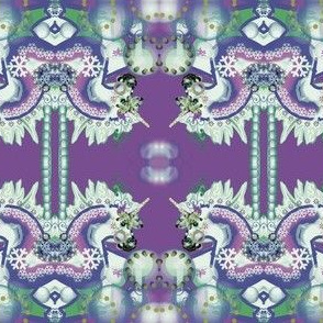 CAROUSEL FANTASY UNICORN PURPLE/BLUE   by Kaylah Marie