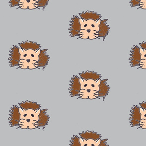 lewis the lion on grey