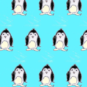 pim the penguin on cold water