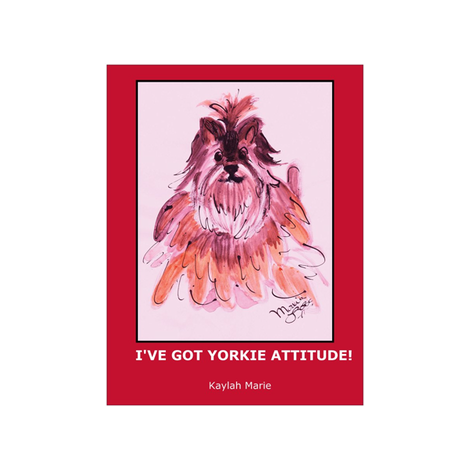 YORKIE ATTITUDE  by  Kaylah Marie fabric by kaylah-marie on Spoonflower - custom fabric