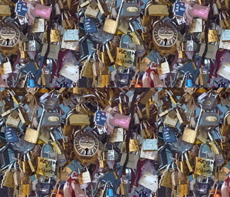 Love Locks Paris - variation 2 fabric by susaninparis on Spoonflower - custom fabric